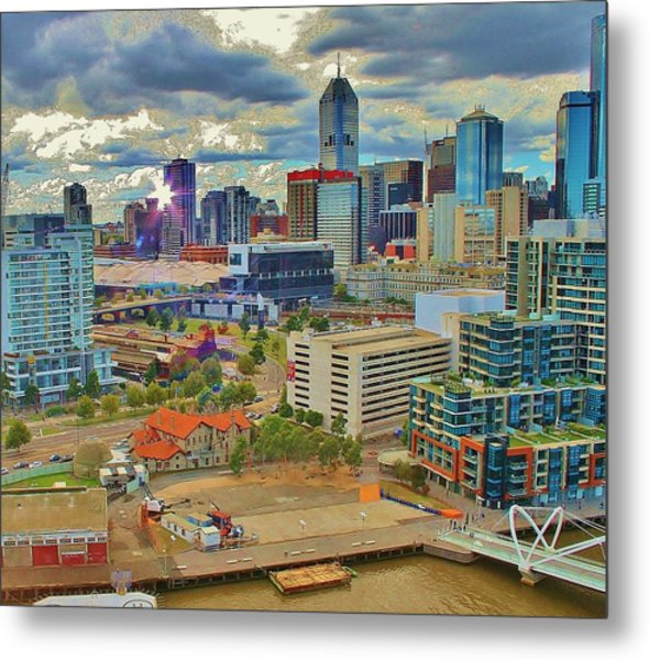 Melbourne City Blocks Of Color Metal Print