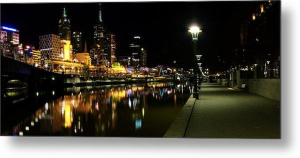 Melbourne Night Metal Print by John Monteath