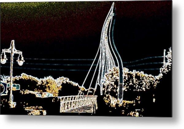 Melting Bridge Metal Print by David Alvarez