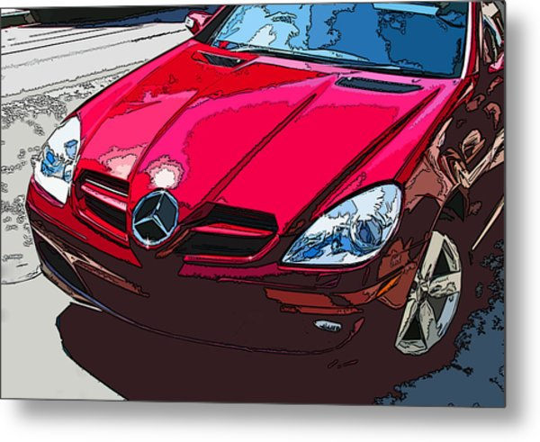 Mercedes Benz Slk Nose Study Metal Print