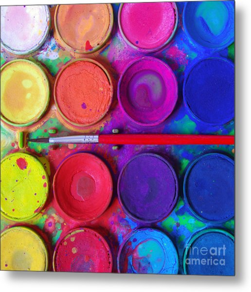 Messy Paints Metal Print