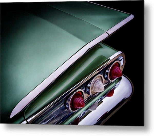 Metalic Green Impala Wing Vingage 1960 Metal Print