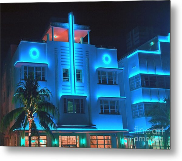 Miami Deco Lights Metal Print