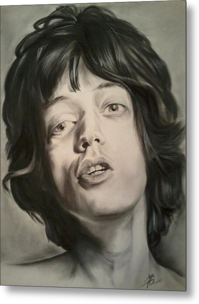 Mick Jagger Metal Print by Morgan Greganti