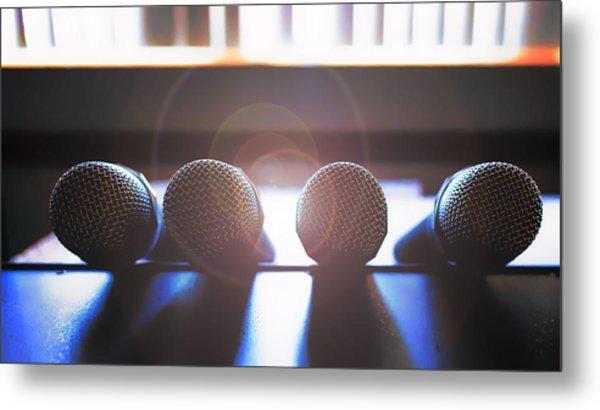 Microphone Flare Metal Print by Bill Tiepelman