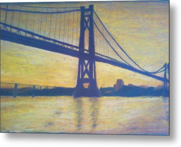 Mid-hudson Bridge Sunrise Metal Print by Samuel McMullen