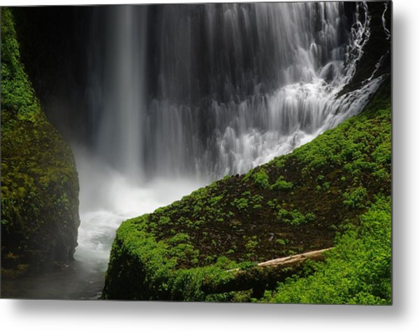 Middle North Falls Closeup Metal Print