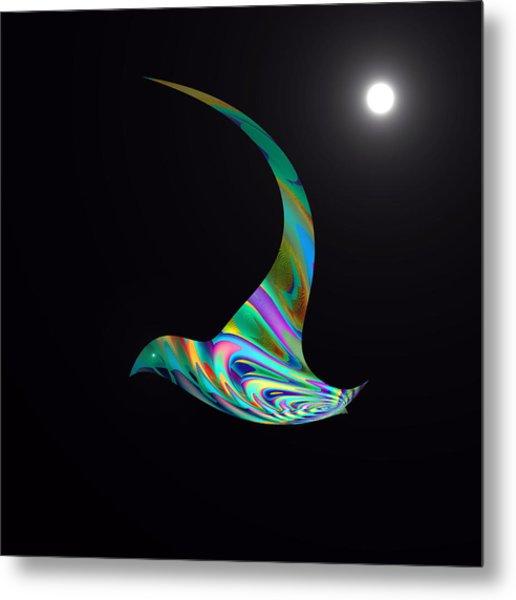Metal Print featuring the digital art Midnight Flight by Visual Artist Frank Bonilla