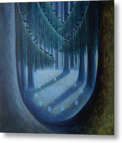 Midnight In The Enchanted Forest Metal Print