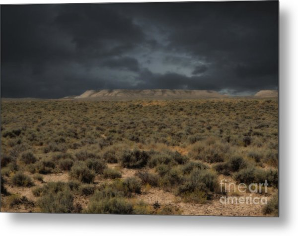 Midnight On The Pairie In Wyoming Metal Print