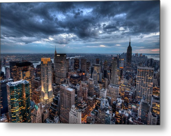 Midtown Lights Metal Print