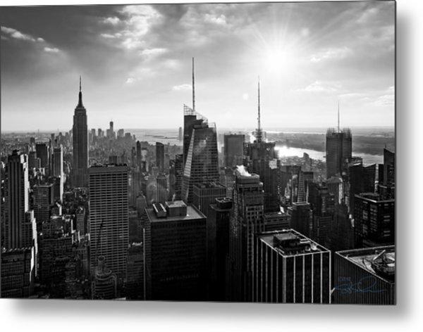 Midtown Skyline Infrared Metal Print