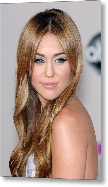 Miley Cyrus At Arrivals For The 37th Metal Print