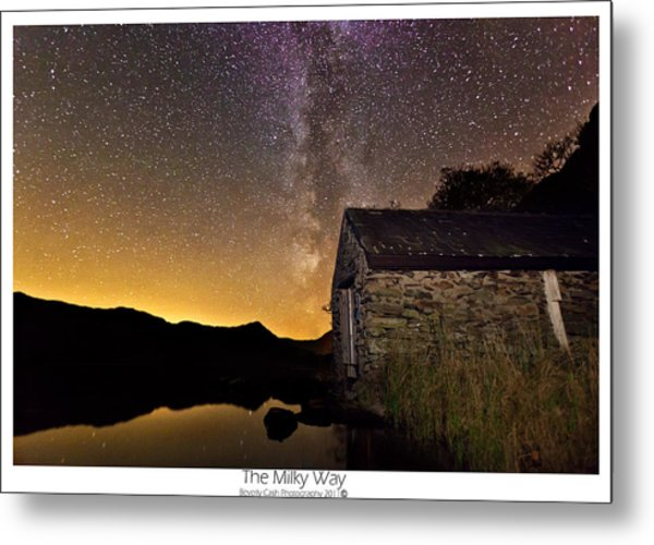 Milky Way Above The Old Boathouse Metal Print