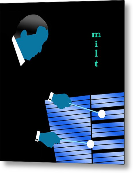 Milt Jackson Blue Metal Print by Victor Bailey