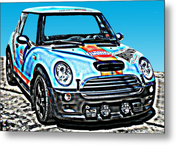 Mini Cooper Competition Metal Print by Samuel Sheats