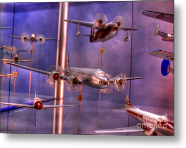Miniature Airplanes Metal Print