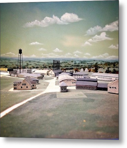 Miniature Arial View Metal Print
