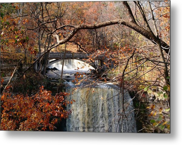 Minneopa In The Fall Metal Print