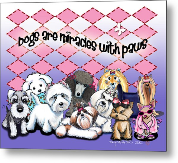 Miracles With Paws Metal Print