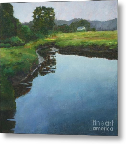 Mirror Creek In Essex Metal Print