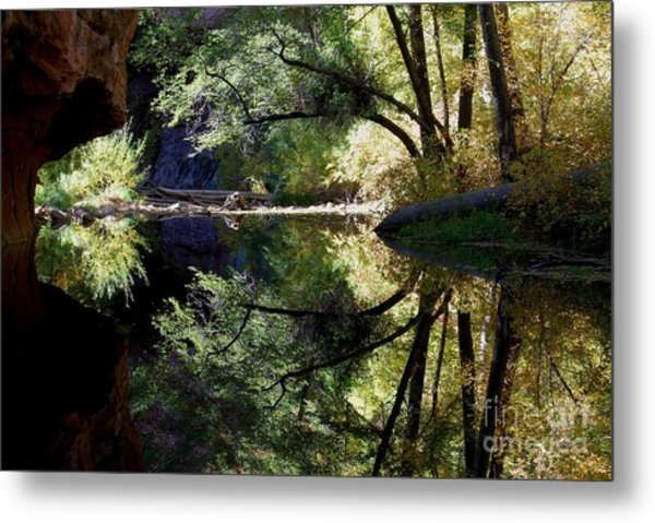 Mirror Reflection Metal Print