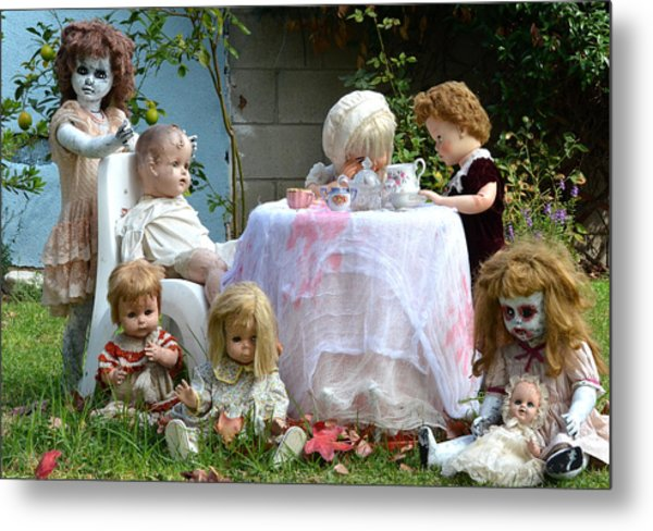 Misfit Tea Party Metal Print