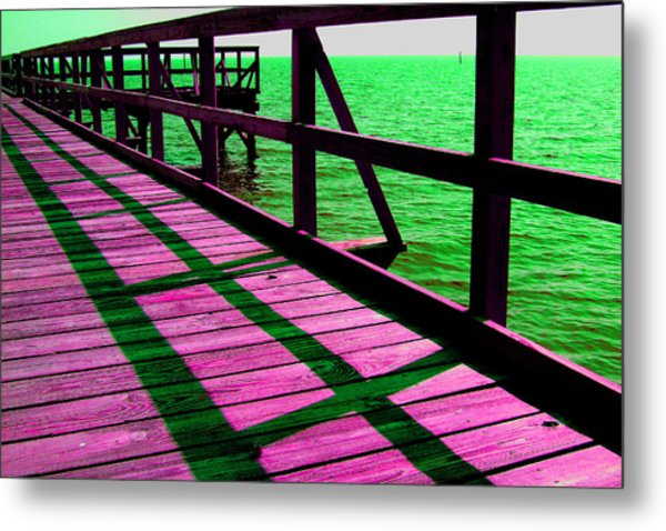 Mississippi  Pier - Ver. 5 Metal Print by William Meemken