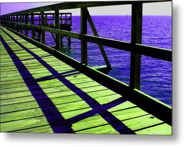 Mississippi  Pier - Ver. 7 Metal Print by William Meemken