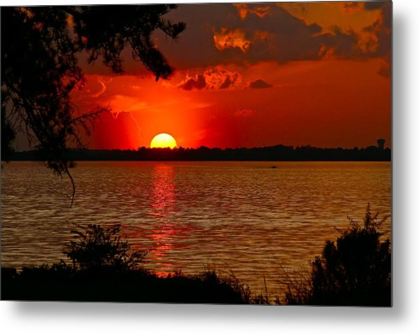 Mississippi Sunset 3 Metal Print