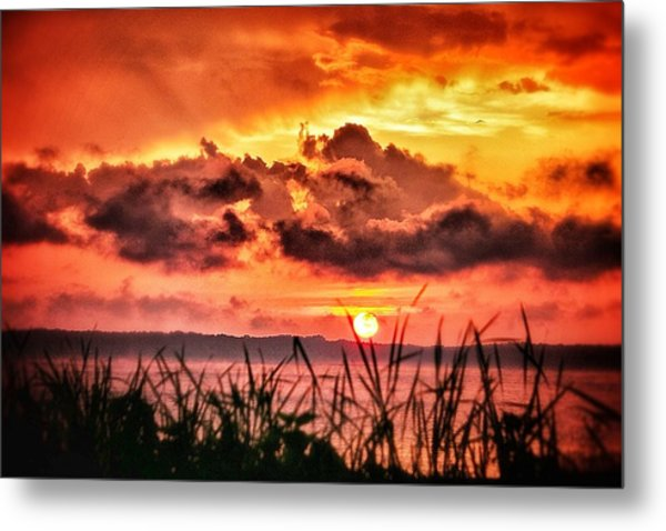 Mississippi Sunset At The Ross Barnett Reservoir 1 Metal Print