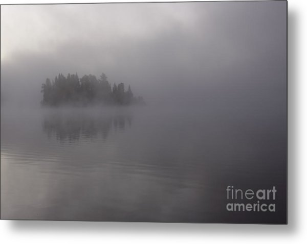 Misty Evergreen Island Metal Print by Chris Hill