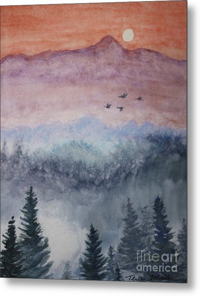 Misty Mountain Metal Print by Terri Maddin-Miller