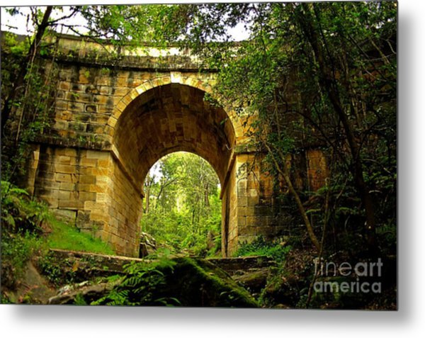 Mitchells Pass Bridge Lapstone A Convict Built Bridge Metal Print