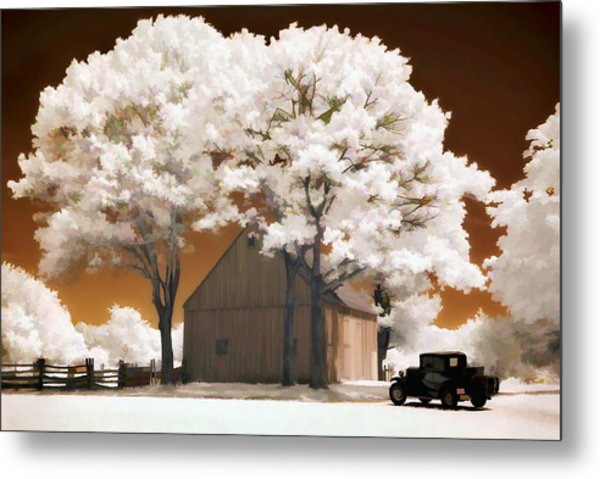 Model A And Old Barn Metal Print