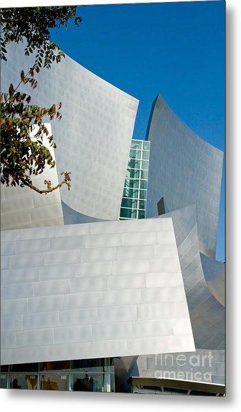 Modern Walt Disney Concert Hall In Los Angeles California Metal Print