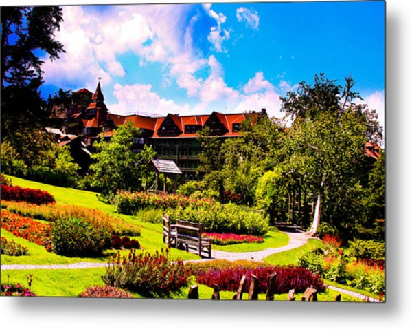 Mohonk Mountain House Garden Metal Print by Michael Ray