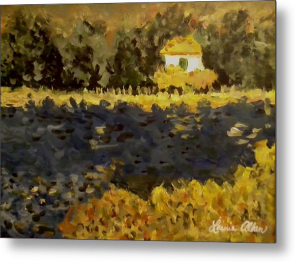 Monet House Metal Print by Laurie Allan