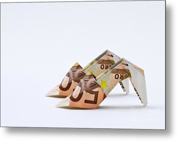 Money For Shoes Metal Print by Catherine MacBride