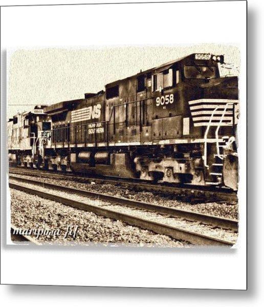 Monochrome Rail Metal Print
