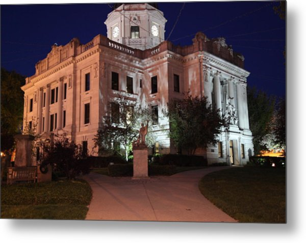 Monroe County Courthouse After Dark by Kenneth Simmerman
