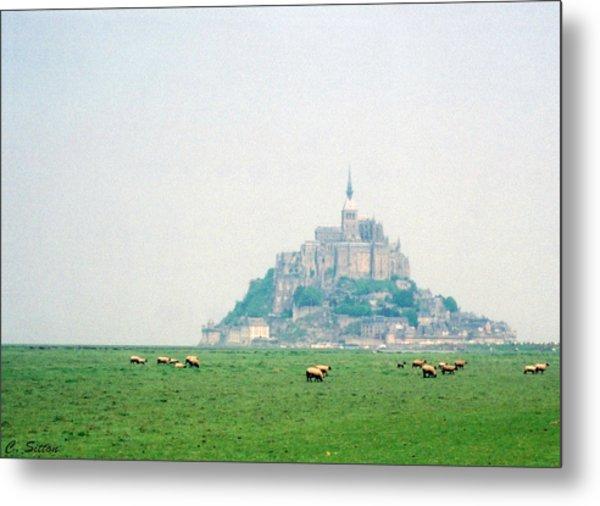 Mont St. Michel Metal Print