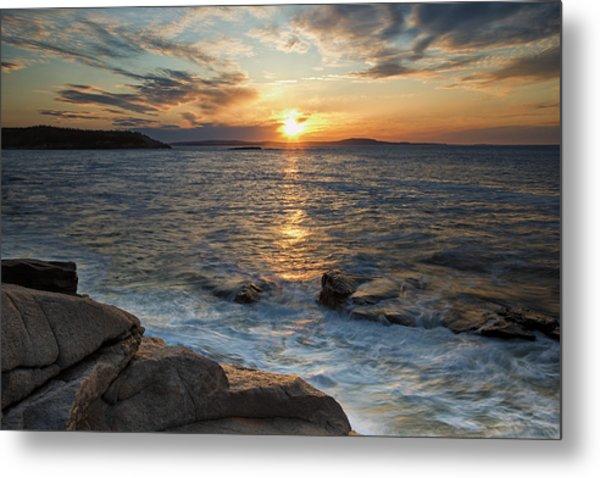 Monument Cove Sunrise Metal Print