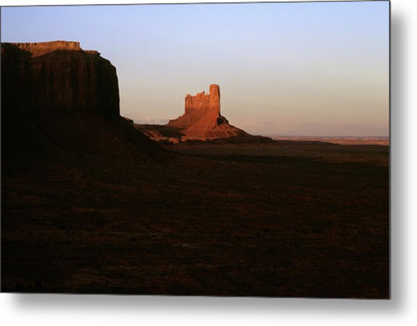Monument Valley Mitten With Butte Metal Print