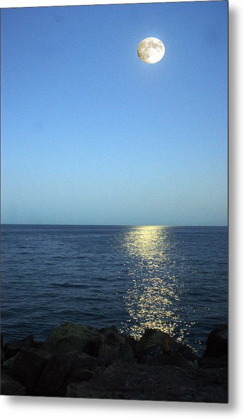 Moon And Water Metal Print