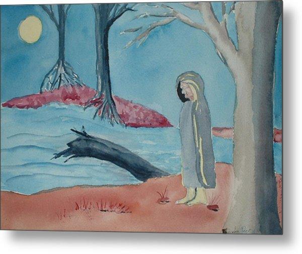 Moon Blanket Metal Print by Linda Pope