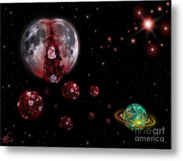 Moon In Labour Metal Print