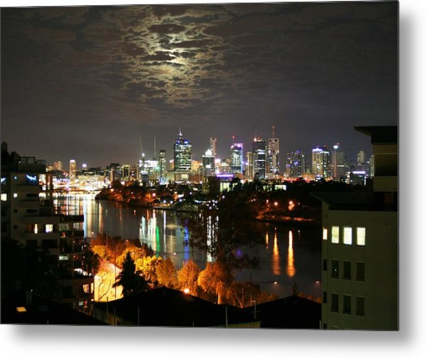 Moon Light Lace Of Brisbane Metal Print