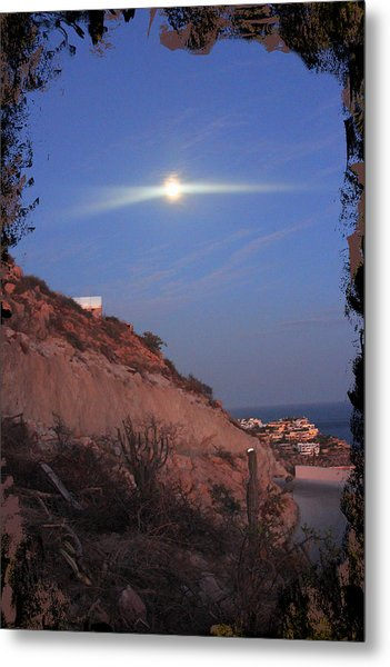 Moon Over Cabo Metal Print
