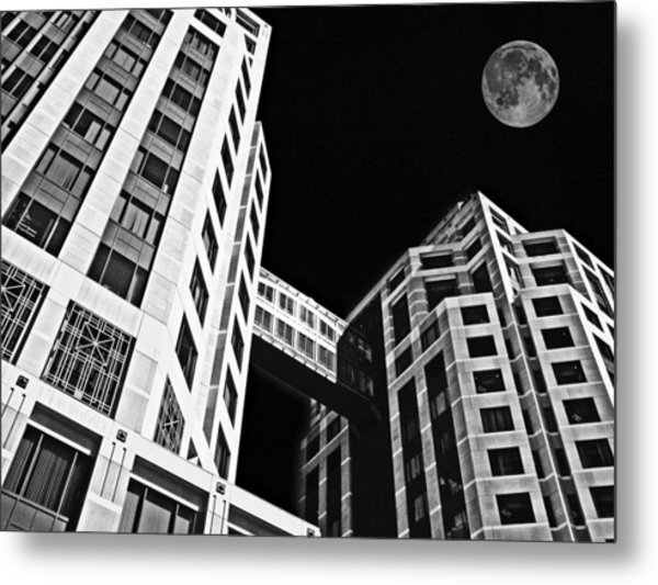 Moon Over Twin Towers 2 Metal Print